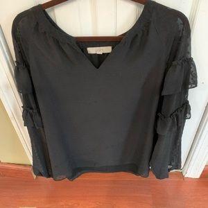 Loft black blouse